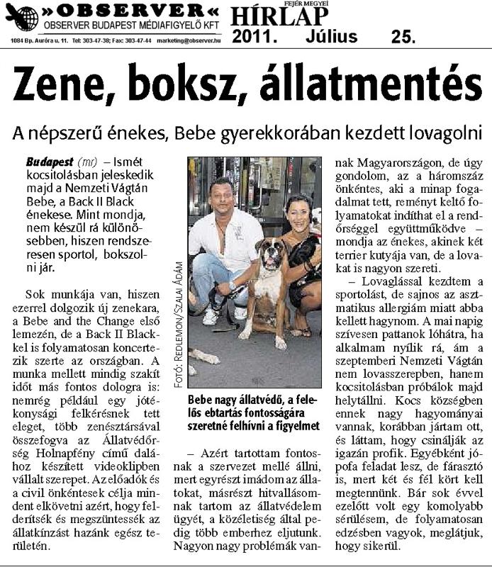 Fejér Megyei Hírlap - 2011.07.25.