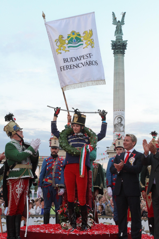 Budapest-Ferencváros lova és lovasa nyerte a Nemzeti Vágtát (2012. szeptember 17.)