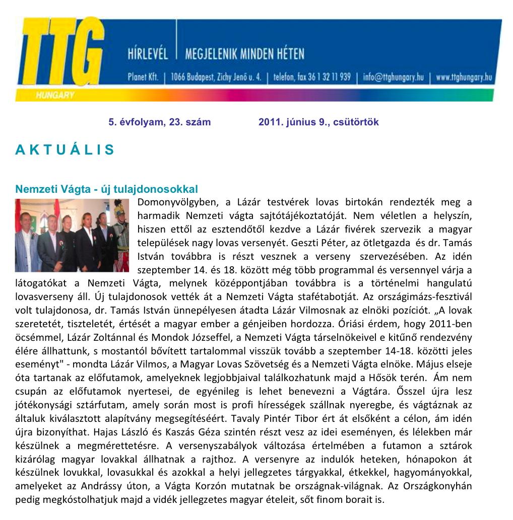TTG Hungary - 2011.06.09.